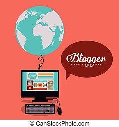 blogger, projektować