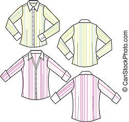 bluzka, fason, dama, pas, formalny