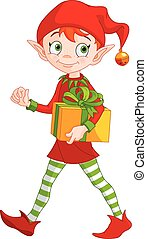 boże narodzenie, elf