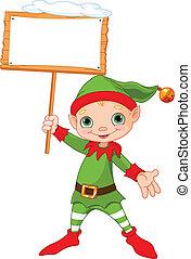 boże narodzenie, znak, elf