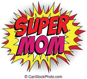 bohater, mommy, macierz, wspaniały, dzień, szczęśliwy