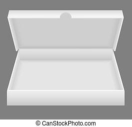 boks, biały, otwarty, uszczelka, ilustracja