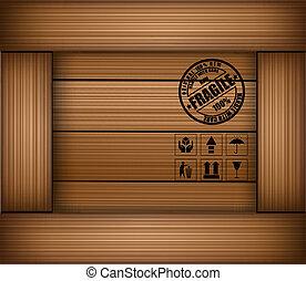 boks, drewniany, rzeźnik, kruchy, struktura, bezpieczeństwo, ikona