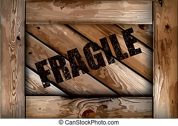 boks, grunge, drewniany, kruchy, tło., wektor