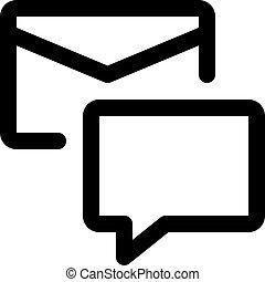boks, wiadomość, email, pogawędka