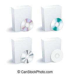 boks, zbiór, dvd, czysty