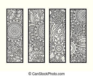 bookmarks, kolorowanie, komplet