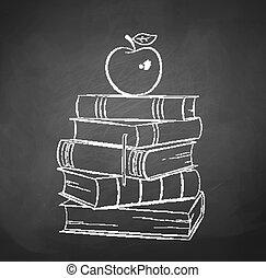 books., jabłko