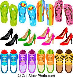 (boots, wysoki, sneakers), obuwie, korek
