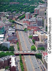 boston, antena, prospekt miasta