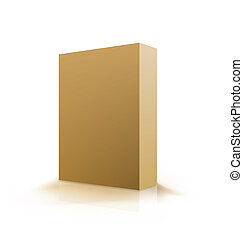 box., wektor, ilustracja