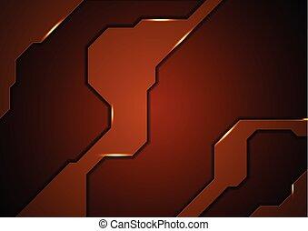 brązowy, abstrakcyjne pojęcie, tech, tło
