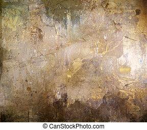 brązowy, abstrakcyjny, grunge, tło, textured