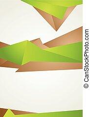 brązowy, abstrakcyjny, nowoczesny, modeluje, lotnik, zielony, projektować