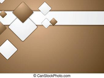 brązowy, abstrakcyjny, tech, tło