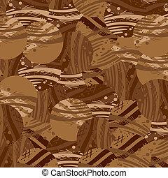 brązowy, artystyczny, struktura