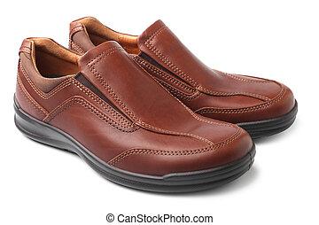 brązowy, obuwie