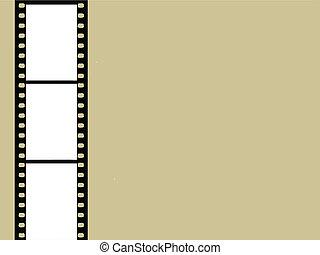 brązowy, wektor, aparat fotograficzny, ilustracja, tło, film