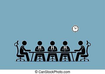 brainstorming, dyskusja, businessman.