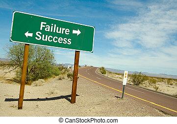 brak, albo, powodzenie, znak