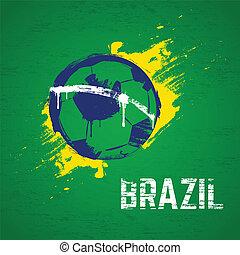 brazylia, piłka nożna, tło