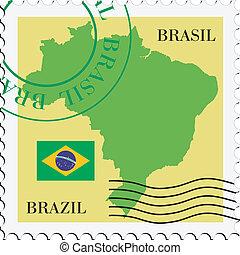 brazylia, poczta, to/from