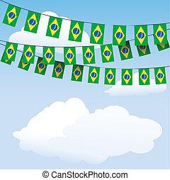 brazylia, trznadel, bandera