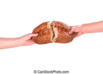 bread, ręka