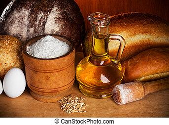 bread, wypiek, nieruchome-życie