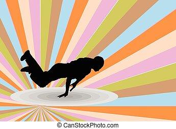 breakdance, tło