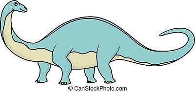 brontozaur, odizolowany, rysunek