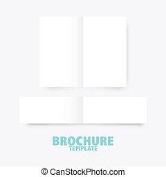 broszura, handlowy, szablon