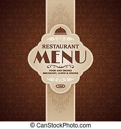 broszura, menu, kawiarnia, szablon, restauracja