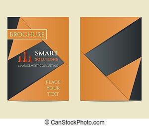 broszura, ordynacyjny, kierownictwo, a4, concept., unikalny, wektor, mądry, lotnik, projektować, rozłączenia, szablon, keywords, geometryczny, rozmiar, itd., towarzystwo, najlepszy, design.