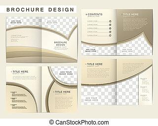 broszura, układ, wektor, projektować, szablon