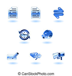 browser, internet, komplet, ikona, błyszczący