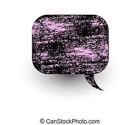 brudny, abstrakcyjny, bańka, rozmowa