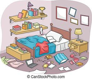 brudny pokój