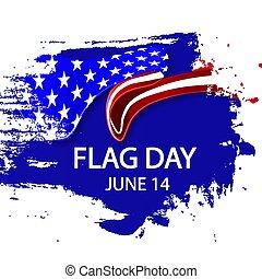 brushstroke, dzień, styl, usa bandera
