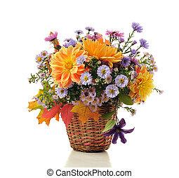 bukiet, jesień, kwiaty