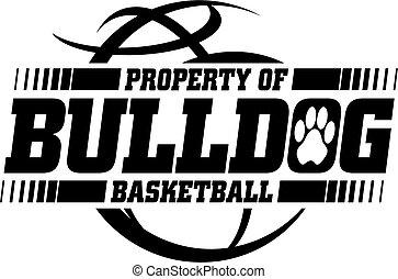 buldog, koszykówka