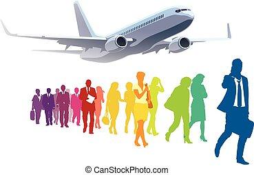 businesspeople, podróżowanie