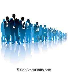 businesspeople, tłum