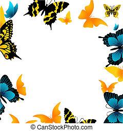 butterfly., ilustracja, wektor