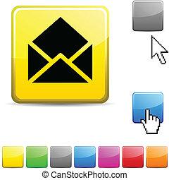 button., e-poczta, połyskujący