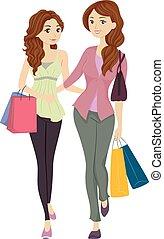 córka, zakupy, mamusia