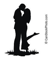 całowanie, kochankowie