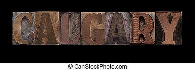 calgary, stary, drewno, typ