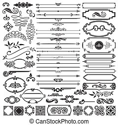 calligraphic, elementy, projektować