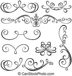 calligraphic, elementy